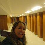 saindo do elevador