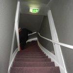 Escada para chegar ao quarto