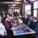 blood donors enjoy a complimentary lunch at Red Robin