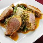 Pistachio Crusted Pork Tenderloin with Grand Marnier Glaze