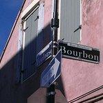 1/2 of a block away from Bourbon Street
