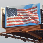 American Flag Billboard