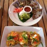 Quesadillas and nacho bites