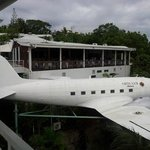 Roof top restaurant.... with real airplane as display.