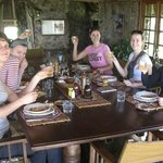 Our welcome lunch at Campi Ya Kanzi