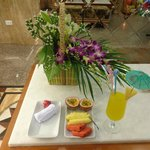 Welcome amenity during check in at Art Trendy