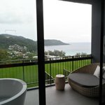 view from ocean hall room (with outside tub)