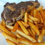Plat : steak au sel