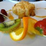 Dessert : crumble aux poires