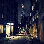 View of the Shard outside hotel