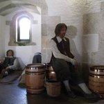 Inside St Mawes Castle.