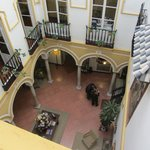 patio vu du 2ème étage