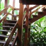 detalhe da escada externa
