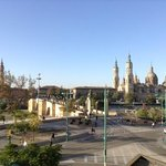 City of Zaragoza from our Ibis bedroom window