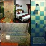 Our room with two bathrooms