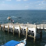 This is where you get onto the smaller boats for excursions- end of pier