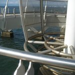 More of the inside of the pier that holds the sail.