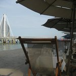 The pier when sitting at LaPalapa for breakfast
