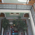 Vu d'en haut sur le hall