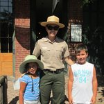 With the park ranger