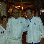 Con el Chef, Erik, te pasaste con la comida!!!
