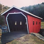 Covered bridge on the way to the falls