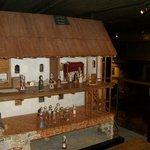 Макет средневекового домика - игра.