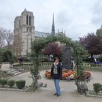 Notre Dame cathedral from Lagrange Park