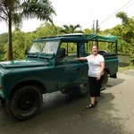 Proper transport. Ellis tours land rover