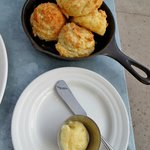 cheese biscuits - free with Yelp