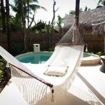 Plunge pool and hammock at our villa
