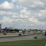 President George Bush Turnpike Irving looking towards the big giant Mall