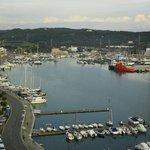 Vista do porto, desde o alto