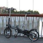 MOBEO bike over the Manzanares River