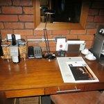 Desk/table area