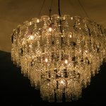 Chandelier in the lounge area