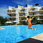 Check out dive at the pool next to the apartments
