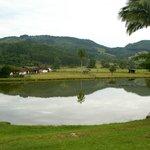 Lago no patio do Hotel