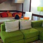 Big cosy sofa!