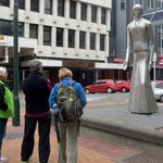 Katherine Mansfield statue Lambton Quay