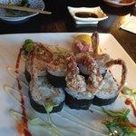 Spider rolls (soft shell crab sushi)