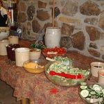 Salad bar @ Thanksgiving buffet