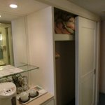 Small wardrobe inside the room but no personal safebox
