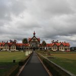 Post card view of Rotorua Museum