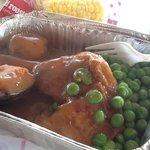 chicken roast with veges