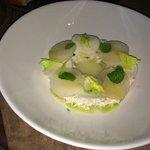 Appetizer- Dungeness crab, cerleryroot, Asian pear, mint