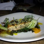 Entree- Swordfish, fennel, tangerine, olive, swiss chard