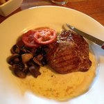 ribeye steak with mushrooms
