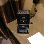 Convenient alarm clock with iphone/ipod dock