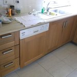 NEW CUPBOARDS IN KITCHEN AREA